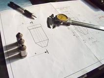 Techincal Zeichnung Stockbild