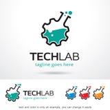 Techlabb Logo Template Design Vector Royaltyfri Illustrationer