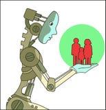Techmen voor mensen stock illustratie