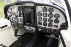 Technam cockpit. Cockpit of shiny new Technam PJ2002 aircraft Stock Photo