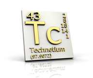 Technetium form Periodic Table of Elements Stock Images