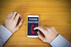Technical assistance Stock Photo