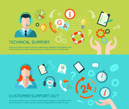 Technical Assistance And Support Banners Royalty Free Stock Image