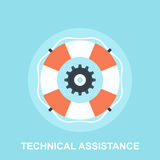 Technical Assistance. Vector illustration of technical assistance flat design concept Royalty Free Stock Images