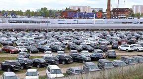 Technical Avto-center Kuncevo in Moscow. MOSCOW, RUSSIA – MAY 03, 2014: Technical Avto-center Kuncevo Royalty Free Stock Image