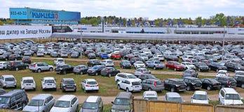 Technical Avto-center Kuncevo in Moscow. MOSCOW, RUSSIA – MAY 03, 2014: Technical Avto-center Kuncevo Stock Image