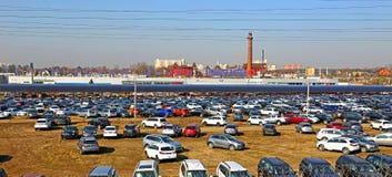 Technical Avto-center Kuncevo in Moscow, Russia. Technical Avto-center Kuncevo on April 19, 2014 in Moscow, Russia Stock Image