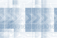 Technical background. Blue technical background, bits and bytes Royalty Free Stock Photography
