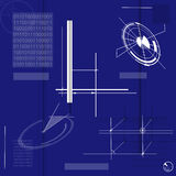 Technical background. Blue background with technical shapes Stock Images
