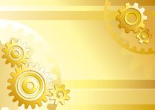 Technical background. Vector technical background with gears Stock Photos