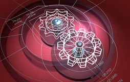 Technical background : cogwheels Royalty Free Stock Image