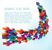 Technical background with colorful arrows. On light blue Royalty Free Stock Photography