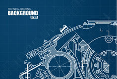 Technical background with drawings Royalty Free Stock Image