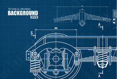 Technical background with drawings Royalty Free Stock Photography