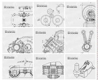 Technical background with drawings Royalty Free Stock Images