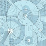 Technical backgroundd. Vector illustration of a technical draft background Stock Photos
