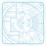 Technical backgrounde. Vector illustration of a technical draft background Stock Photo