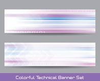 Technical banner set Royalty Free Stock Photo