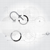 Technical banner template. Banner template with technical drawing of geometric complex shapes Royalty Free Stock Photography