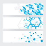 Technical Banners. A set of 3 technical themed banners Stock Images