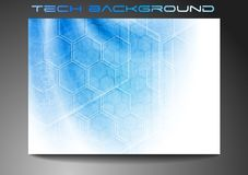 Technical blue backdrop Royalty Free Stock Images