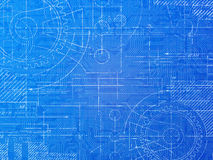 Technical Blueprint Royalty Free Stock Photos