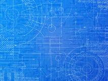 Technical Blueprint. Electronics and mechanical  background illustration Royalty Free Stock Photos