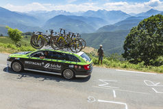 Technical Car of Bretagne-Seche Environnement Team - Tour de Fra Royalty Free Stock Images