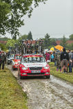 Technical Car of Cofidis Team Royalty Free Stock Photo