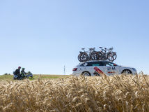 The Technical Car of IAM Team in the Plain - Tour de France 2016 Stock Photo