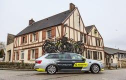 Technical Car of Mitchelton-Scott Team - Paris-Nice 2018 royalty free stock photos