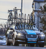 Technical Car of Sky Procycling Team. Nemours,France- March 4, 2013: The technical car of Sky Procycling Team on the roadduring the first stage of the famous Stock Photos