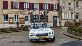 Technical Car of Team Dimension Data - Paris-Nice 2018 stock images