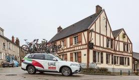 Technical Car of UAE-Team Emirates - Paris-Nice 2018 stock images