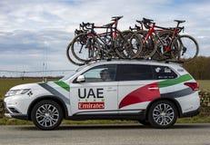 Technical Car of UAE-Team Emirates - Paris-Nice 2018 stock photos