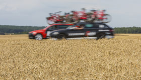 Technical Cars - Tour de France 2017 Stock Images