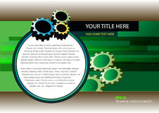 Technical Catalog and Brochure Concept Stock Image