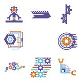 Technical design elements set Royalty Free Stock Photo
