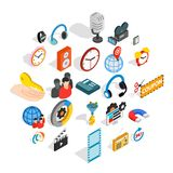 Technical detail icons set, isometric style. Technical detail icons set. Isometric set of 25 technical detail vector icons for web isolated on white background Stock Images