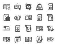 Technical Documentation icons. Set of Instruction, Plan and Manual. Vector. Technical document icons. Set of Instruction, Plan and Manual icons. Help document royalty free illustration