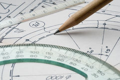 Technical draw Stock Photography