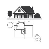 technical draw house Royalty Free Stock Images