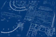 Technical Drawing 02 Stock Image