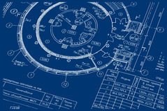 Technical Drawing 03 Royalty Free Stock Image