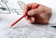 The technical drawing Stock Photos