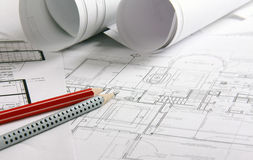 The technical drawing Stock Image