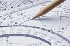 Technical drawing Stock Photo