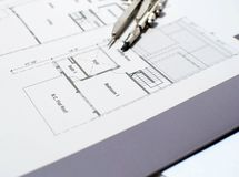 Technical Drawing. Royalty Free Stock Image