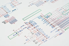 Technical Drawing. Detailed technical drawing with a lot of calculations royalty free stock photos