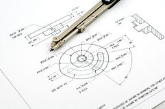 Technical drawing Royalty Free Stock Image